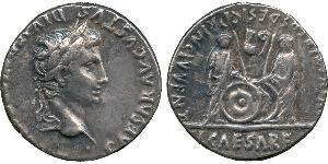 1 Denarius Römische Kaiserzeit (27BC-395) Silber Augustus (63BC- 14)