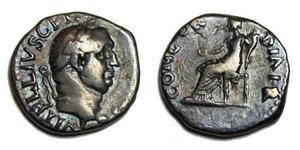 1 Denarius Römische Kaiserzeit (27BC-395) Silber Vitellius (15-69)