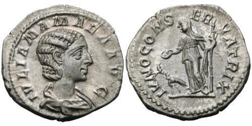 1 Denarius Römische Kaiserzeit (27BC-395) Silber Julia Avita Mamaea (180-235)