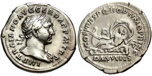 1 Denarius Römische Kaiserzeit (27BC-395) Silber Trajan (53-117)