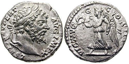 1 Denarius Römische Kaiserzeit (27BC-395) Silber Septimius Severus (145- 211)
