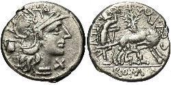 1 Denarius Römische Republik (509BC-27BC) Silber Sextus Pompeius (67BC-35BC)