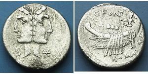 1 Denarius Römische Republik (509BC-27BC) Silber