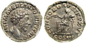 1 Denarius Roman Empire (27BC-395) Silver Marcus Aurelius (121-180)