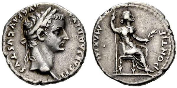 1 Denarius Roman Empire (27BC-395) Silver Tiberius Claudius Nero (42 BC-37)