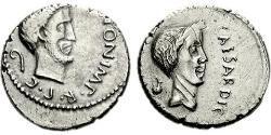 1 Denarius Roman Republic (509BC-27BC) Silver Julius Caesar (100BC- 44 BC)