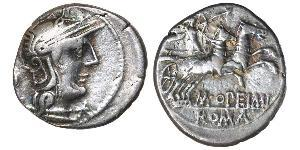 1 Denarius Roman Republic (509BC-27BC) Silver Lucius Opimius
