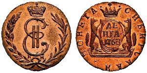 1 Denga Imperio ruso (1720-1917) Cobre Catalina II (1729-1796)