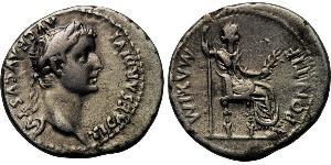 1 Denier Empire romain (27BC-395) Argent Tiberius Claudius Nero (42 BC-37)