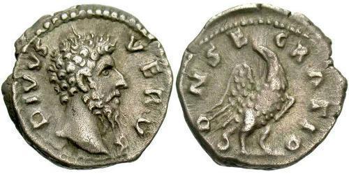 1 Denier Empire romain (27BC-395) Argent Lucius Verus (130-169)