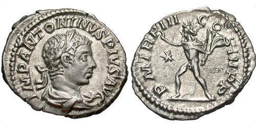1 Denier Empire romain (27BC-395) Argent Héliogabale (203-222)
