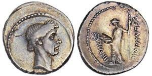 1 Denier République romaine (509BC-27BC) Argent Jules César (100BC- 44 BC)
