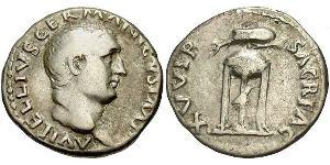 1 Denier Empire romain (27BC-395)  Vitellius (15-69)