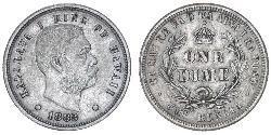 1 Dime USA (1776 - ) Silver Kalākaua