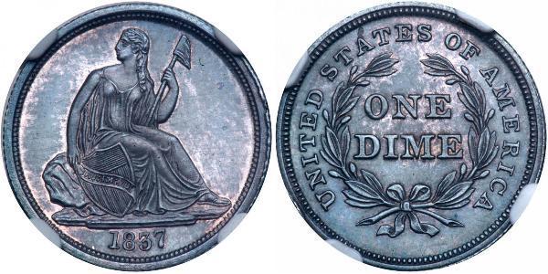 1 Dime / 10 Cent 美利堅合眾國 (1776 - ) 銀/銅