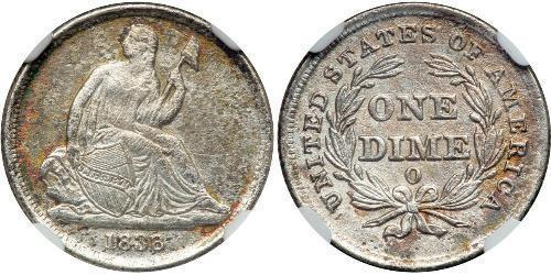 1 Dime / 10 Cent États-Unis d