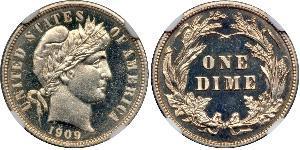1 Dime / 10 Cent USA (1776 - ) Copper/Silver