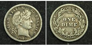 1 Dime / 10 Cent Stati Uniti d