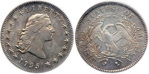 1 Dime / 1 Dólar Estados Unidos de América (1776 - ) Plata
