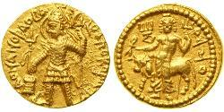 1 Dinar Kushan Empire (60-375) 金 Vasudeva I