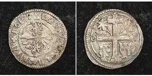 1 Dinar Croatia 銀 贝拉四世 (1206 - 1270)