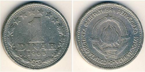 1 Dinar Socialist Federal Republic of Yugoslavia (1943 -1992) Copper/Nickel