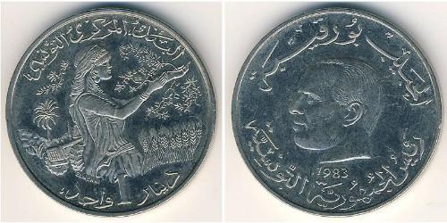1 Dinar Tunisia Copper/Nickel