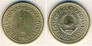 1 Dinar Socialist Federal Republic of Yugoslavia (1943 -1992) Copper/Zinc/Nickel