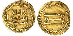 1 Dinar Abbasid Caliphate (750-1258) Gold Al-Mahdi (775 - 785)