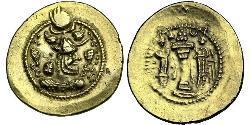1 Dinar Iran / Sassanid Empire (224-651) Gold Peroz I (? - 484)