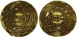 1 Dinar Kingdom of Jerusalem (1099-1291) Gold Baldwin I (1058 -1118)
