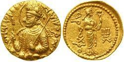 1 Dinar Kushan Empire (60-375) Gold Huvishka (?-180)