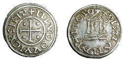 1 Dinar Fränkisches Reich (481-843) Silber Ludwig der Fromme (778-840)