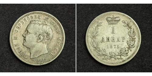1 Dinar Serbien Silber Milan I. (Serbien)