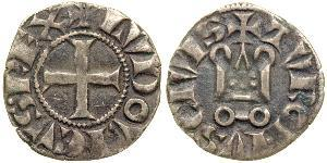 1 Dinar Kingdom of France (843-1791) Silver Louis IX of France  (1214-1270)