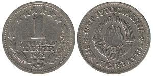 1 Dinaro República Federativa Socialista de Yugoslavia (1943 -1992) Níquel/Cobre