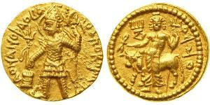 1 Dinaro Imperio kushán (60-375) Oro Vasudeva I