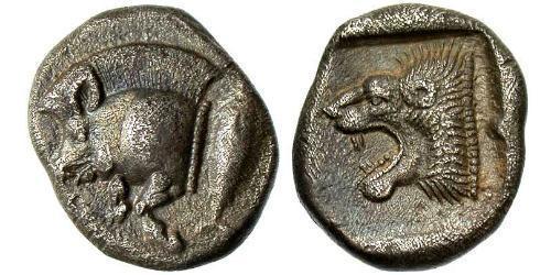 1 Diobol Antikes Griechenland (1100BC-330) Silber