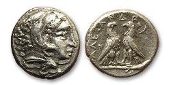 1 Diobol Macedonian Kingdom (800BC-146BC) Silber Alexander III der Große (356BC-323BC)