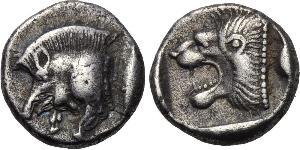 1 Diobol Ancient Greece (1100BC-330) Silver