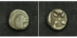 1 Diobol / 2 Obol Ancient Greece (1100BC-330) 銀