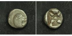 1 Diobol / 2 Obol Antigua Grecia (1100BC-330) Plata