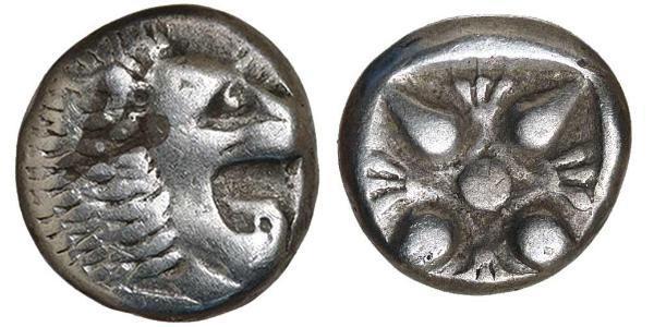 1 Diobol / 2 Obolo Grecia antica (1100BC-330) Argento