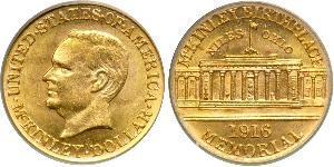 1 Dollar 美利堅合眾國 (1776 - ) 金 William McKinley, Jr. (1843 - 1901)