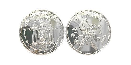 1 Dollar 伯利兹 銀