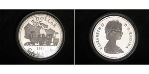 1 Dollar 加拿大 銀