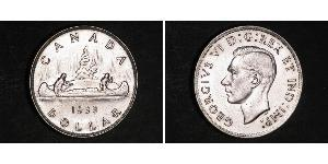1 Dollar 加拿大 銀 乔治六世 (1895-1952)