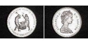 1 Dollar 加拿大 銀 伊丽莎白二世 (1926-)