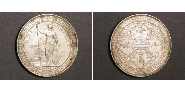 1 Dollar 大英帝国 / 香港 銀