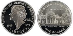 1 Dollar 美利堅合眾國 (1776 - ) 銀 Thomas Jefferson (1743-1826)